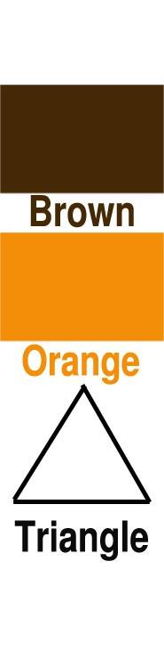 Brown, Orange & Triangle
